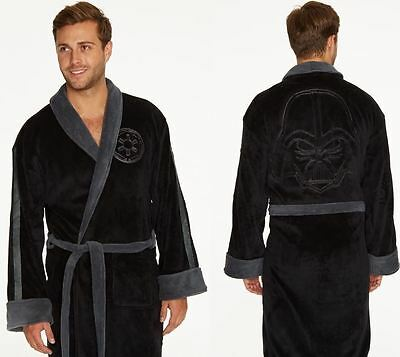 Star Wars Darth Vader Embossed Fleece Bathrobe Black Men's Dressing Gown Robe