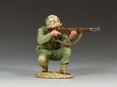 USMC020 Crouching Marine Firing Rifle by King and Country