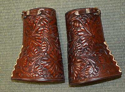 Custom Western Cowboy Cuffs by Tips with Mark Dahl Sterling Silver Buckles