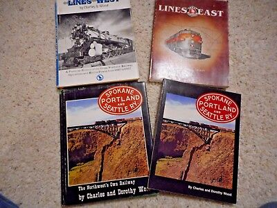 Four Books, Two Great Northern  And Two Sp&s Ry
