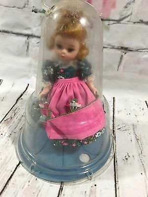 Vintage 1950's Hard Plastic Doll in Bell Dome Case Madame Alexander