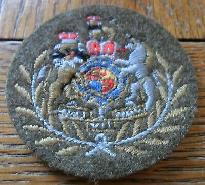 Small WO1 (Conductor) Embroidered Rank Badge, QC