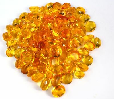 500Cts Wholesale Batch Of Oval-Facet Natural Brazilian Golden Citrine Gemstones