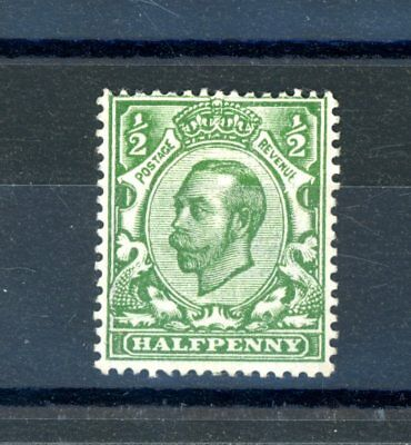 Great Britain  1911/12  1/2d  SG 340A  No Cross on Crown  L.H.M.   (O906)