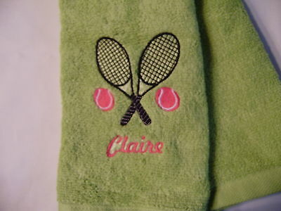 Free personalizing New Machine Embroidered tennis sports towel