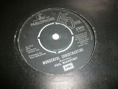 "PAUL McCARTNEY- WONDERFUL CHRISTMAS TIME VINYL 7"" 45RPM p"