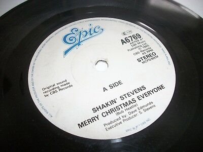 "SHAKIN' STEVENS- MERRY CHRISTMAS EVERYONE VINYL 7"" 45RPM p"
