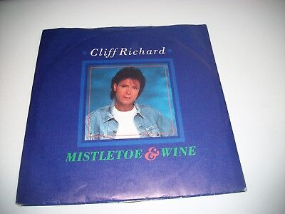"Cliff Richard- Mistletoe & Wine - Vinyl 7"" 45Rpm Ps"