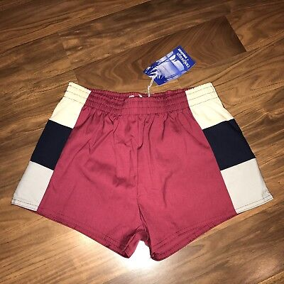NEW Vtg 70s Colorblock CASTAWAY Athletic Track Shorts Mens XS SMALL swim trunks