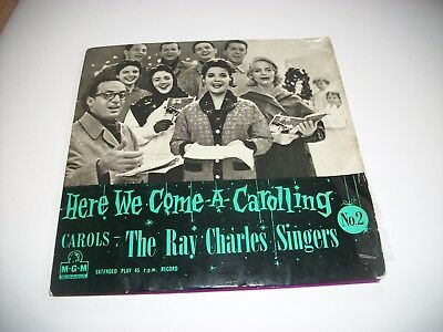 """The Ray Charles Singers- Here We Come A Carolling Ep - Vinyl 7"""" 45Rpm Ps"""