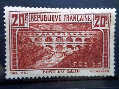 France N° 262A Pont Du Gard Type I Neuf Gomme Sans Charniere Ni Trace