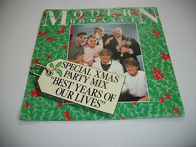 """Modern Romance- Best Years Of Our Lives Christmas Mix - Vinyl 7"""" 45Rpm Ps"""