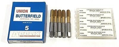 5 Union Butterfield 3/8-24NF Thread Forming Taps Plug Titanium High Performance