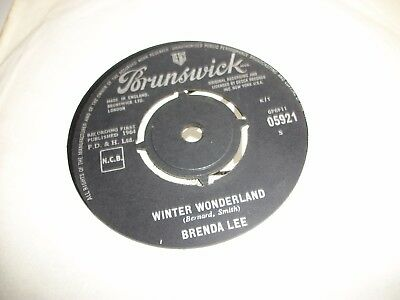 "BRENDA LEE- WINTER WONDERLAND - VINYL 7"" 45RPM p"