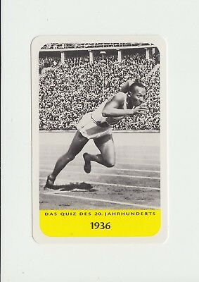 Athletics : Jesse Owens : attractive German collectable game card
