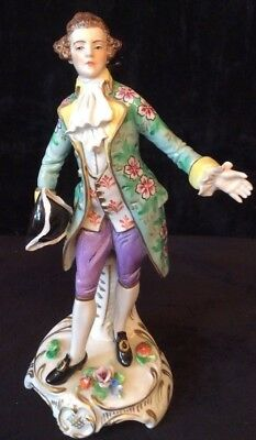 "Antique Sitzendorf Figurine Regency Gentleman Approx 8""....20 Cms In Height"