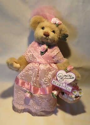 "Annette Funicello Bear with Button In Ear, Tagged, Mint - 10"" Tall"