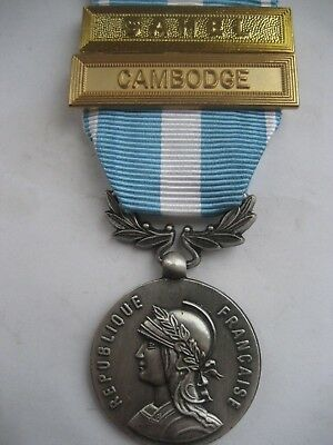 Foreign Legion/french Forces.overseas Medal Sahel/cambodge Bars