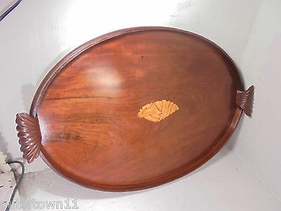 Large Antique inlaid Mahogany Tray      ref 663