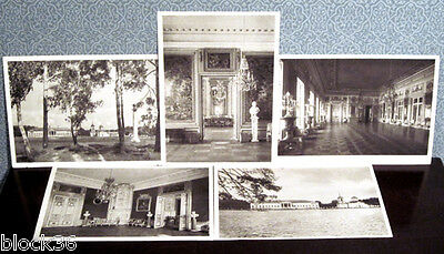 1947 Seven Russian postcards KUSKOVO ESTATE (well known historical place)