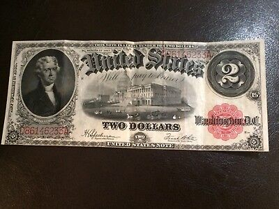 1917 $2 United States Note Large Currency