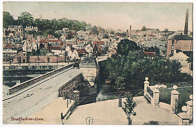 Bradford-On-Avon - View Of River Bridge And Town - 1906 - By R.wilkinson & Co.