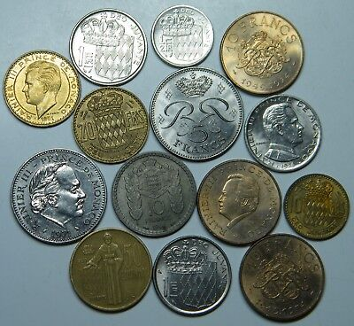 WCA 14 Coins From Monaco 1946 - 1982 Lot # 96