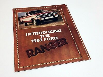 1983 Ford Ranger Launch Preview Poster Brochure