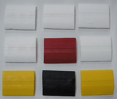 9 Pieces of Super-Glide Tailor Chalk - 5 White, 2 Yellow, 1 Black & 1 Red