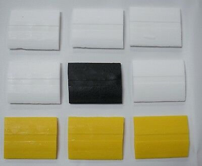 9 Pieces of Super-Glide Tailor Chalk - 5 White, 3 Yellow & 1 Black