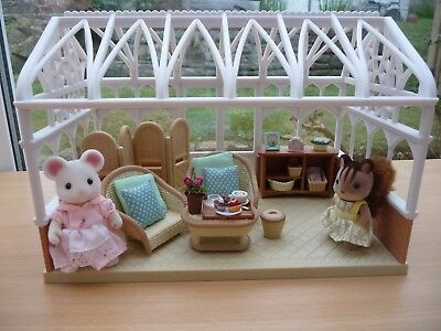 Flair Sylvanian Families Conservatory With Furniture/accessories/2 Figures, Vgc