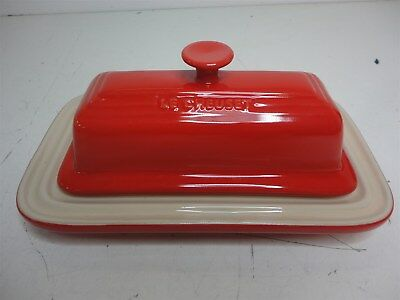 Le Creuset Stoneware Red Butter Dish