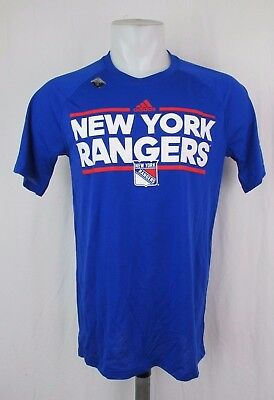 a5ee7357a NEW YORK RANGERS adidas Climalite Ultimate Tee T Shirt Blue