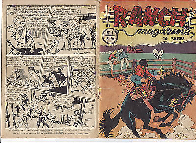 RANCH MAGAZINE N°1 juillet 1950 SAGE