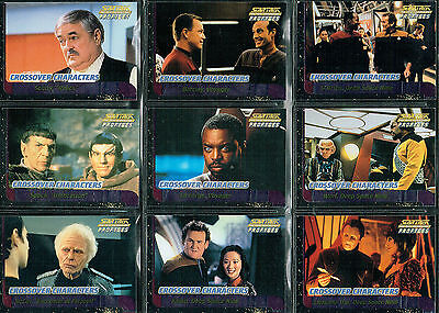 Star Trek The Next Generation Profiles Set Of 9 Crossover Characters Cards C1-C9