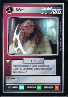 Star Trek Ccg Reflections Very Rare Kahless