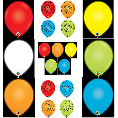 "Qualatex Q-Lite LED Lit 11"" Light Up Latex Balloons Birthday Wedding Glow Party"
