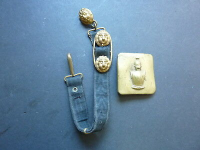 French Brass Belt Buckle & Sword/Dagger Hanger