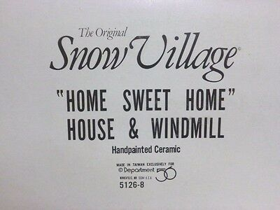 Dept 56 Snow Village Home Sweet Home House & Windmill - 51268