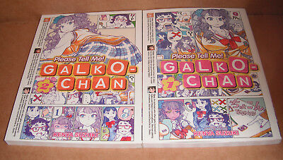 Please Tell Me! Galko-chan Vol. 1,2 Manga Graphic Novels English