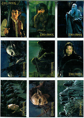 Lord Of The Rings Fellowship Of The Ring Set Of 10 Foil Cards