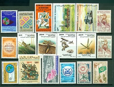Mauritania Assort 3 MNH World Cup Insects Trains $$