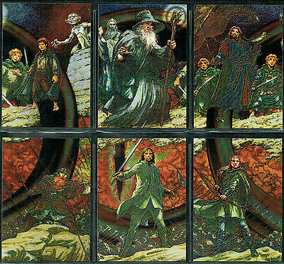Lord Of The Rings Masterpieces Set Of 6 Etched Foils