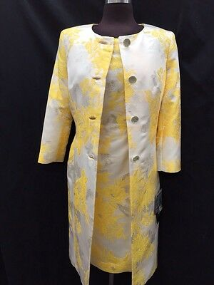 Albert Nipon Dress Suit/new With Tag/retail$320/size 14/lined/knee Length