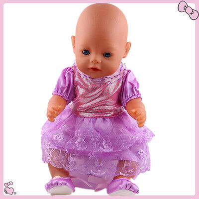 1set Doll Clothes Wearfor 43cm Baby Born zapf (only sell clothes ) B729