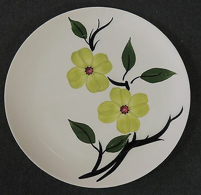 Blue Ridge Southern Potteries Hand Painted Light Green Flowers Dinner Plate EUC