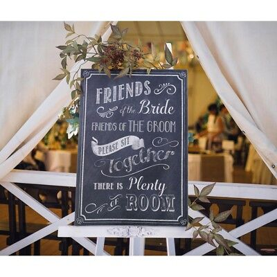 Wedding Seating Sign Friends Bride Groom Please Sit Together Ceremony Decoration