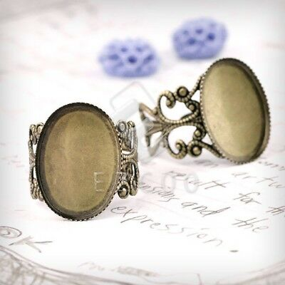 5/6pcs Ring Mountings Hot Engagement Settings Flat Oval/Bow Tie Antique Lots