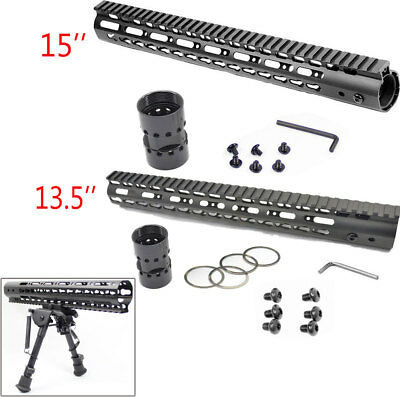 "13.5""/15''  Inch Ultra-Light Super Slim Keymod Free Float Handguard + Nut NEW US"