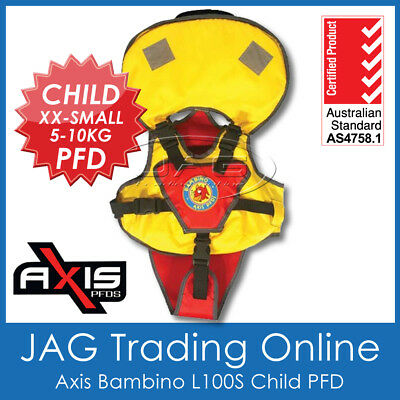 AXIS BAMBINO CHILD XXS 5-10KG L100S PFD LIFE JACKET - Baby Infant Toddler Vest